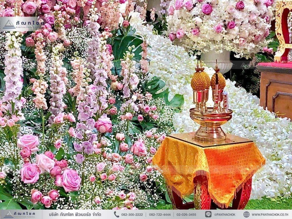 ดอกไม้ประดับ ดอกไม้งานพิธีศพ