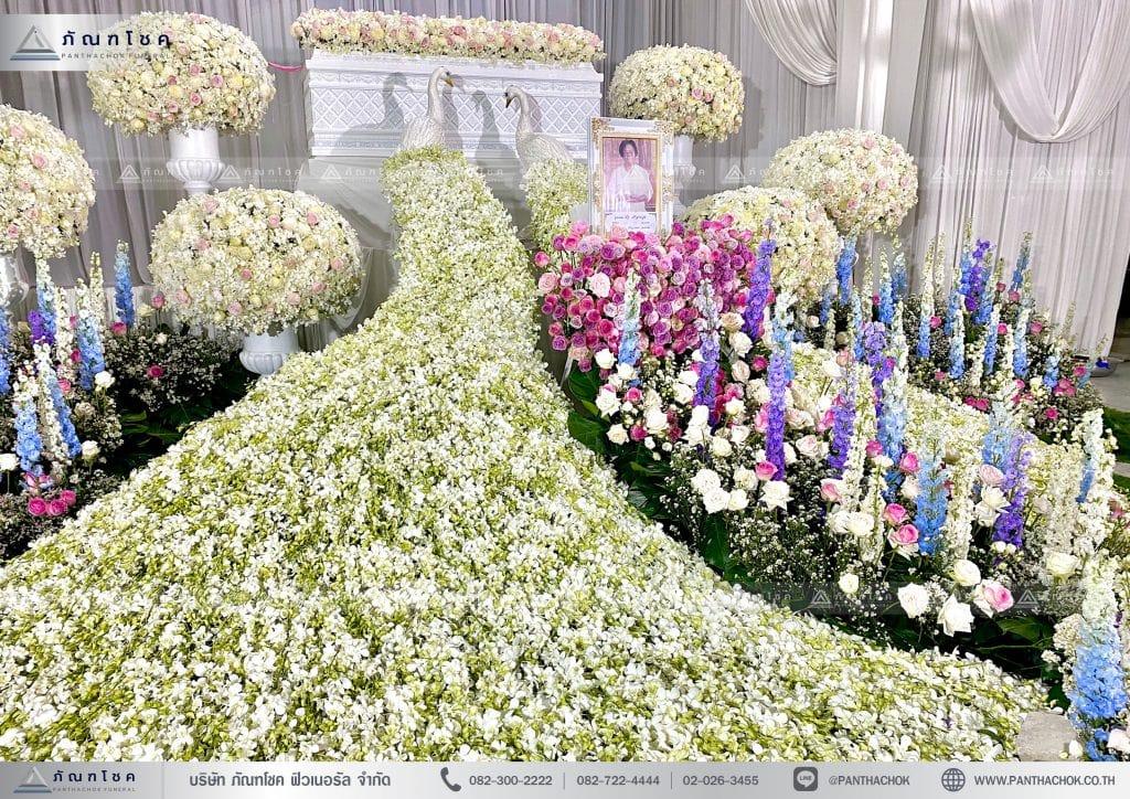 รับจัดดอกไม้งานศพ ดอกไม้หน้าศพ ดอกไม้หน้าหีบ