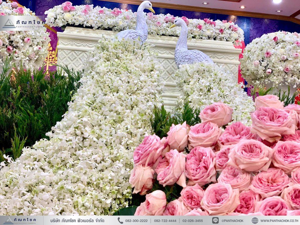 รับจัดดอกไม้งานศพ จัดดอกไม้งานศพราชบุรี