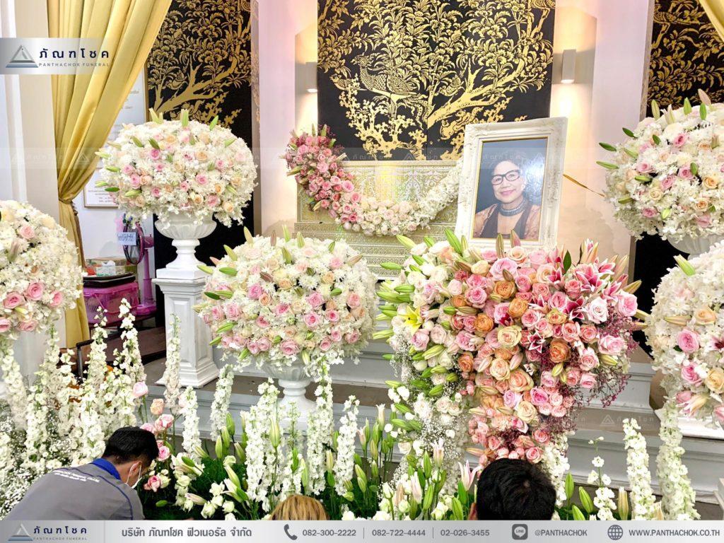กรอบรูปประดับงานศพ ดอกไม้สดจากต่างประเทศ