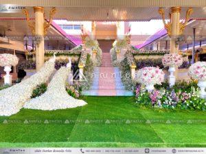 ดอกไม้สดประดับเมรุ โทนสีขาวชมพู ดอกไม้เมรุ เมรุดอกไม้สด ดอกไม้สดโทนสีขาวชมพู
