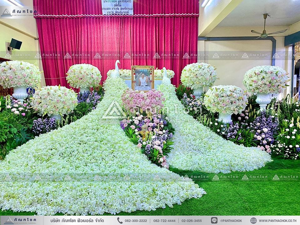 ดอกสดหน้าศพ ดอกไม้ในงานศพ รับจัดงานศพ