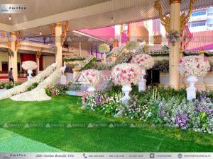 ดอกไม้สดประดับเมรุ งานศพ โลงศพ ดอกไม้งานศพ ดอกไม้ปเมรุ จัดงานโทนสีหวาน