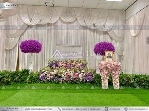 ดอกไม้สดหน้าศพ ณ วัดบ้านทวน รับจัดงานศพ ดอกไม้ในงานศพ