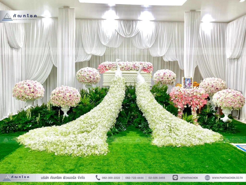 การเลือกใช้โทนสีดอกไม้สด เพื่อประดับตกแต่งหน้าหีบ สีดอกไม้ เลือกสีดอกไม้