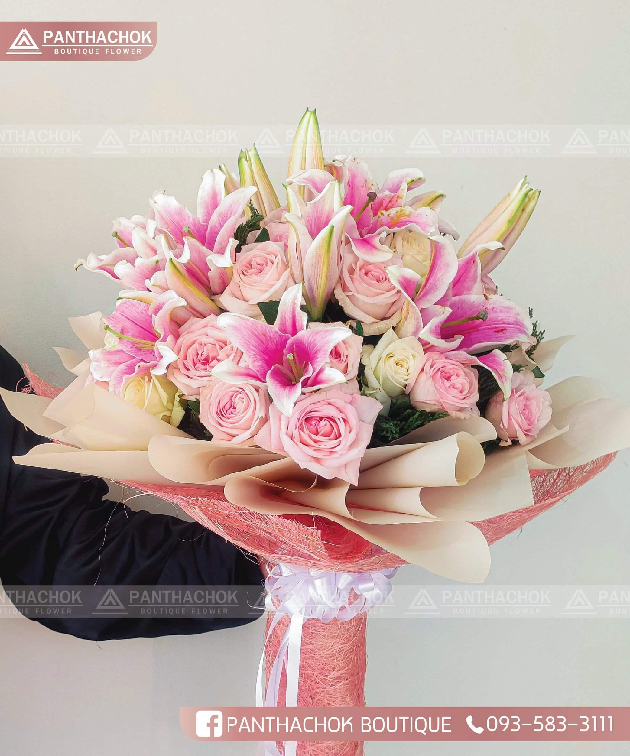 ร้านดอกไม้ราชบุรี ช่อดอกไม้ ช่อกุหลาบ
