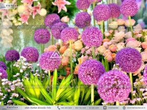 ดอกไม้งานศพแบบคริสต์ ดอกไม้หน้ารูป ดอกไม้งานศพสีม่วง ดอกไม้กรอบรูปสวยหรู