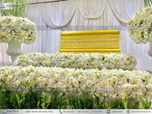 นกยูงงานศพ วัดไทร นครปฐม ร้านดอกไม้นครปฐมแนะนำ จัดงานศพสวยๆ นกยูงงานศพ