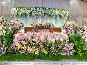 ดอกไม้งานศพแบบคริสต์ ดอกไม้หน้ารูป สวนดอกไม้สดสวยหรู ดอกไม้งานศพอลังการยิ่งใหญ่
