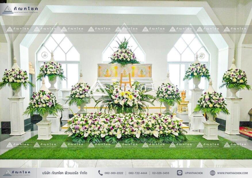 ดอกไม้งานศพพุ่มมุก ดอกไม้หน้าศพ