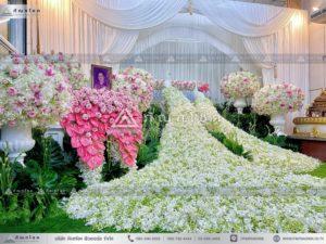 ดอกไม้งานศพชุดนกยูง