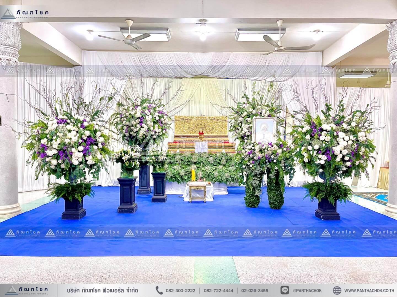 รวมผลงานการจัดดอกไม้งานศพ 24