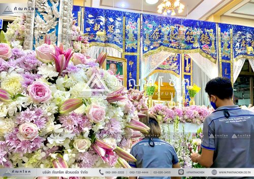 จัดดอกไม้หน้าฉากจีน